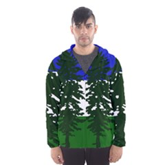 Flag Of Cascadia Hooded Wind Breaker (men)