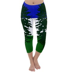 Flag Of Cascadia Capri Winter Leggings