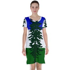 Flag Of Cascadia Short Sleeve Nightdress by abbeyz71