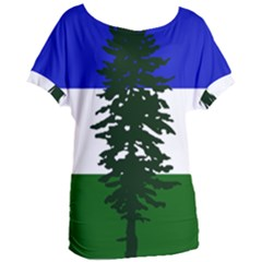 Flag Of Cascadia Women s Oversized Tee by abbeyz71