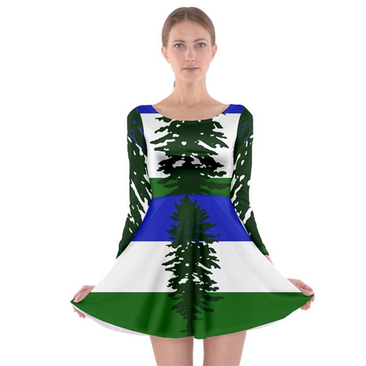 Flag of Cascadia Long Sleeve Skater Dress