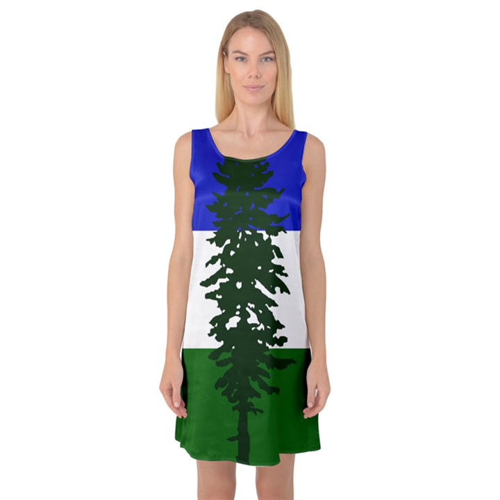 Flag of Cascadia Sleeveless Satin Nightdress