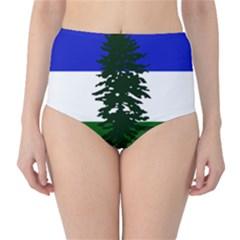 Flag Of Cascadia High Waist Bikini Bottoms