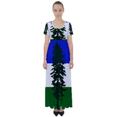 Flag Of Cascadia High Waist Short Sleeve Maxi Dress by abbeyz71