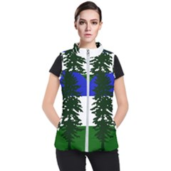 Flag Of Cascadia Women s Puffer Vest by abbeyz71