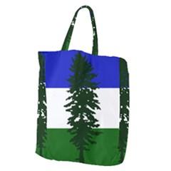 Flag Of Cascadia Giant Grocery Zipper Tote by abbeyz71