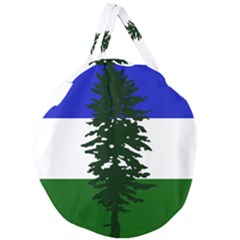 Flag Of Cascadia Giant Round Zipper Tote by abbeyz71