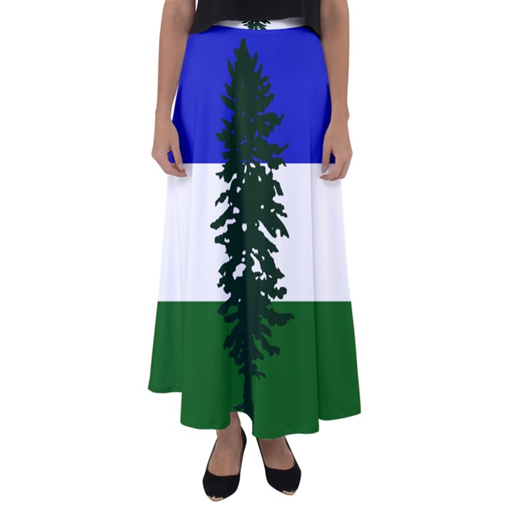 Flag of Cascadia Flared Maxi Skirt