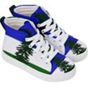 Flag of Cascadia Kid s Hi-Top Skate Sneakers View3