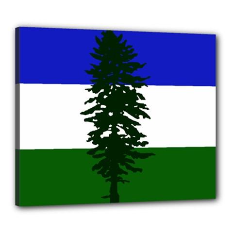 Flag Of Cascadia Canvas 24  X 20  by abbeyz71