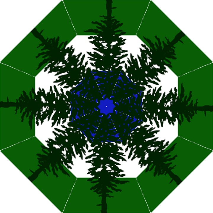 Flag of Cascadia Folding Umbrellas