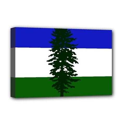 Flag Of Cascadia Deluxe Canvas 18  X 12   by abbeyz71