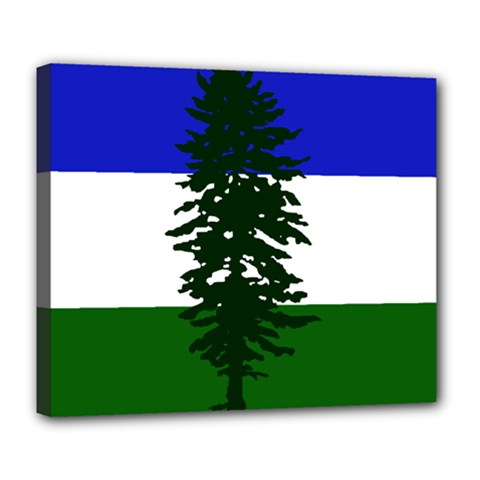 Flag Of Cascadia Deluxe Canvas 24  X 20   by abbeyz71