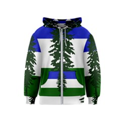 Flag Of Cascadia Kids  Zipper Hoodie by abbeyz71