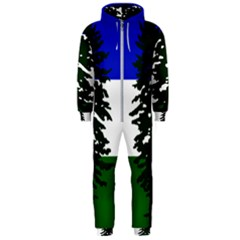 Flag Of Cascadia Hooded Jumpsuit (men)  by abbeyz71