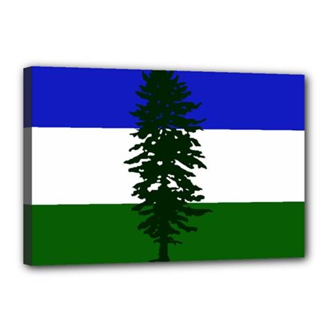 Flag Of Cascadia Canvas 18  X 12  by abbeyz71