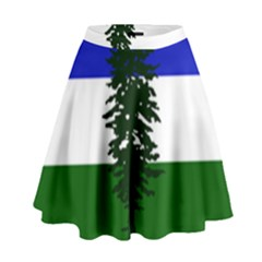 Flag Of Cascadia High Waist Skirt by abbeyz71