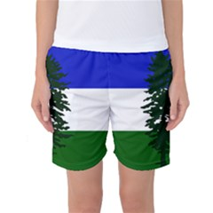 Flag Of Cascadia Women s Basketball Shorts by abbeyz71