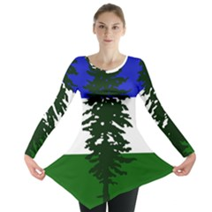 Flag Of Cascadia Long Sleeve Tunic  by abbeyz71