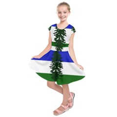 Flag Of Cascadia Kids  Short Sleeve Dress by abbeyz71
