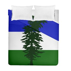 Flag Of Cascadia Duvet Cover Double Side (full/ Double Size) by abbeyz71