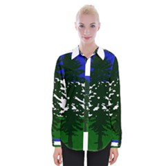 Flag Of Cascadia Womens Long Sleeve Shirt by abbeyz71