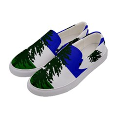 Flag Of Cascadia Women s Canvas Slip Ons by abbeyz71
