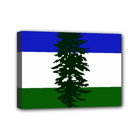 Flag 0f Cascadia Mini Canvas 7  X 5  by abbeyz71
