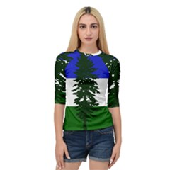 Flag 0f Cascadia Quarter Sleeve Raglan Tee by abbeyz71