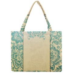 Art Nouveau Green Mini Tote Bag by 8fugoso