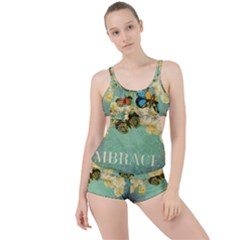 Embrace Shabby Chic Collage Boyleg Tankini Set  by 8fugoso