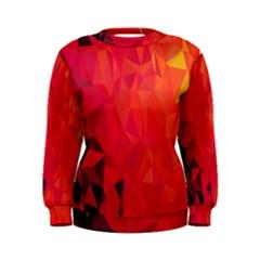 Triangle Geometric Mosaic Pattern Women s Sweatshirt