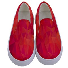 Triangle Geometric Mosaic Pattern Kids  Canvas Slip Ons
