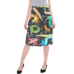 Repetition Seamless Child Sketch Midi Beach Skirt