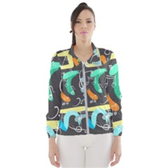 Repetition Seamless Child Sketch Wind Breaker (women)