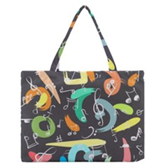 Repetition Seamless Child Sketch Zipper Medium Tote Bag