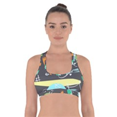 Repetition Seamless Child Sketch Cross Back Sports Bra