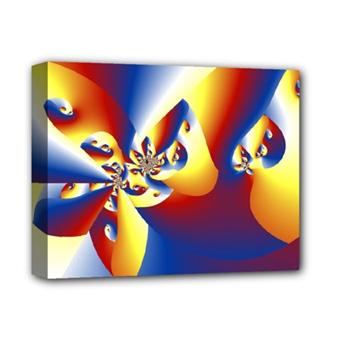 Mandelbrot Math Fractal Pattern Deluxe Canvas 14  X 11  by Nexatart