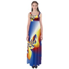 Mandelbrot Math Fractal Pattern Empire Waist Maxi Dress