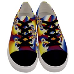 Mandelbrot Math Fractal Pattern Men s Low Top Canvas Sneakers