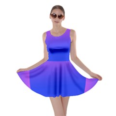 Abstract Bright Color Skater Dress