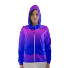 Abstract Bright Color Hooded Wind Breaker (women)