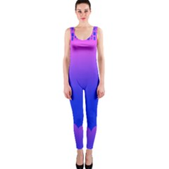 Abstract Bright Color Onepiece Catsuit