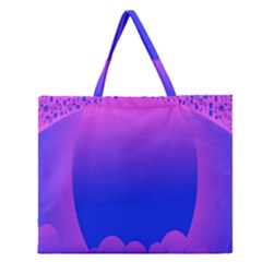 Abstract Bright Color Zipper Large Tote Bag