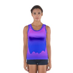 Abstract Bright Color Sport Tank Top