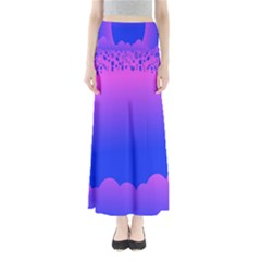 Abstract Bright Color Full Length Maxi Skirt
