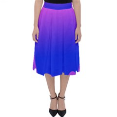 Abstract Bright Color Folding Skater Skirt by Nexatart