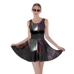 Crystals Background Design Luxury Skater Dress