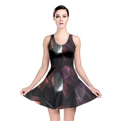 Crystals Background Design Luxury Reversible Skater Dress