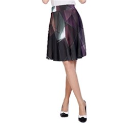 Crystals Background Design Luxury A Line Skirt